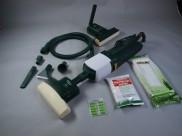 Vysavač VORWERK VK121 klepač ET340, hadice, nástavce, zapravovač, prášek, sáčky, vůně